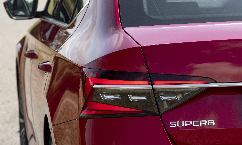 rear light on the skoda superb