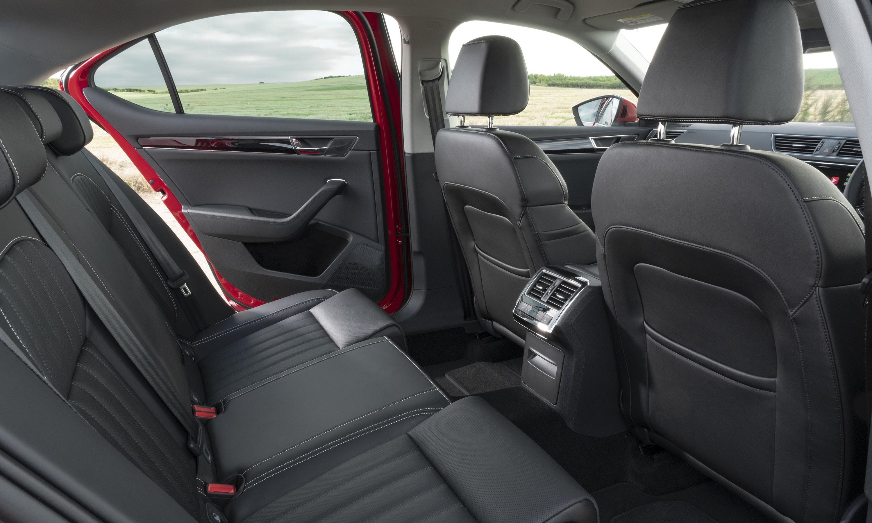 Interior rear seats of Skoda Superb