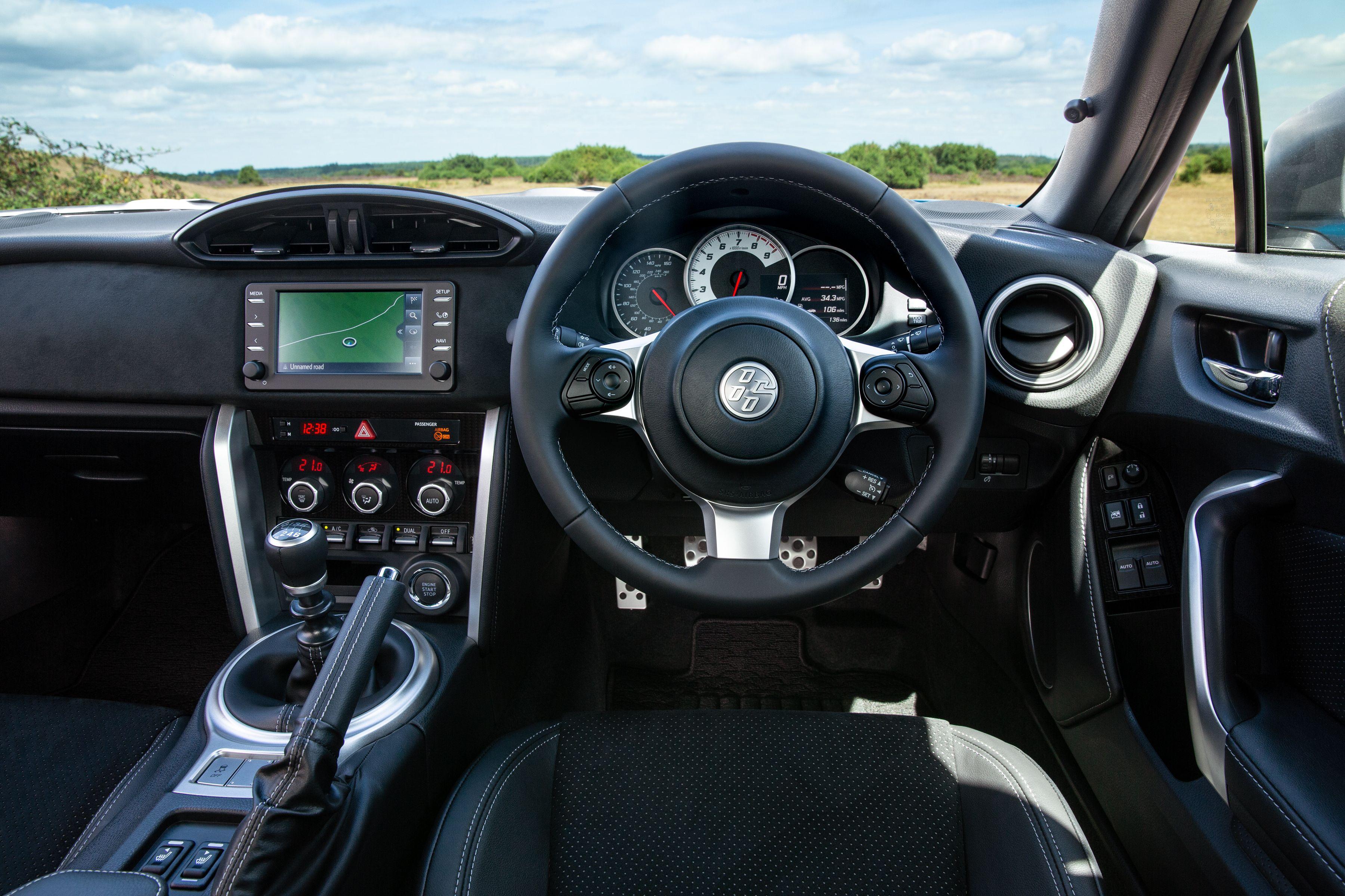 Interior of the Toyota