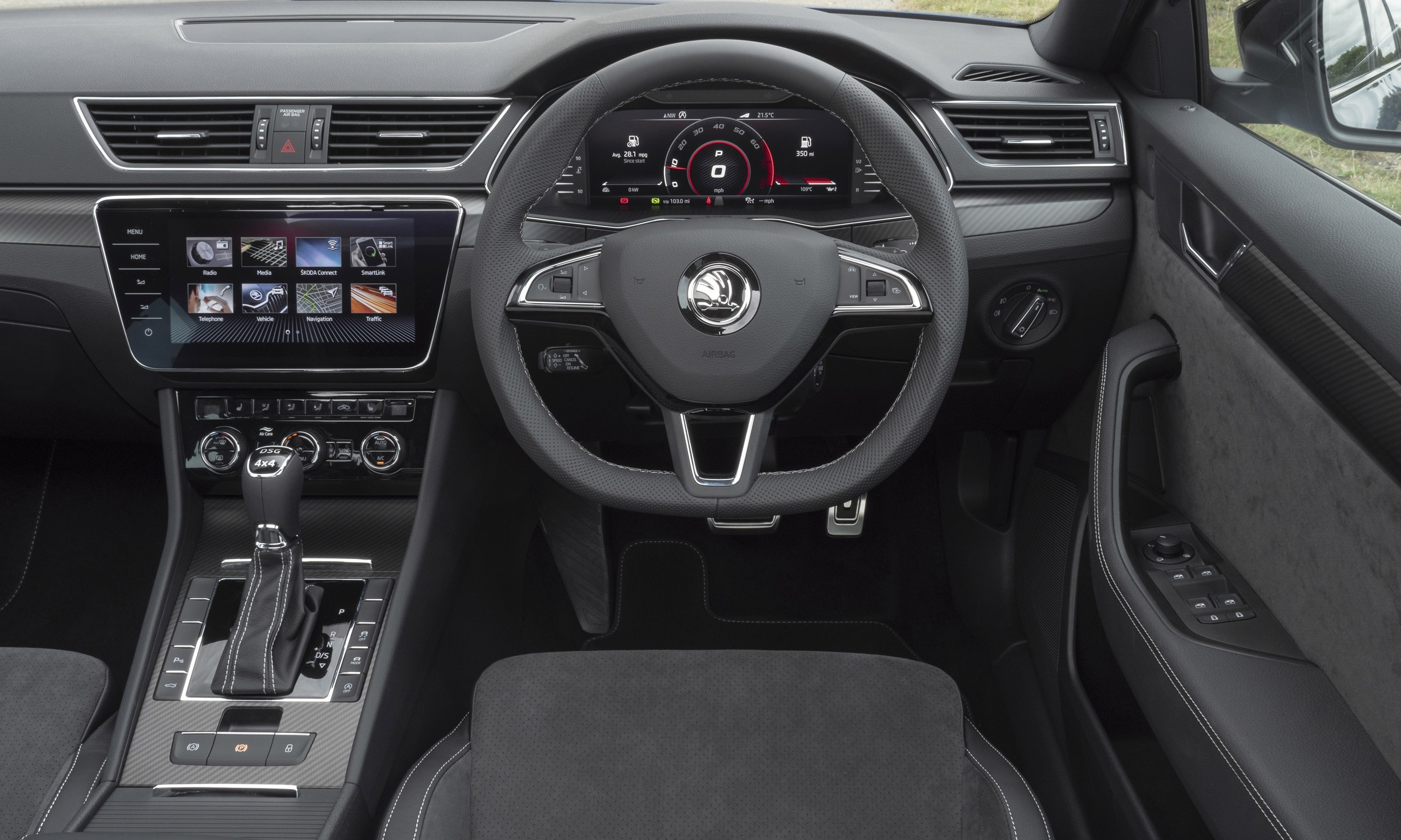 Interior of the Skoda Superb