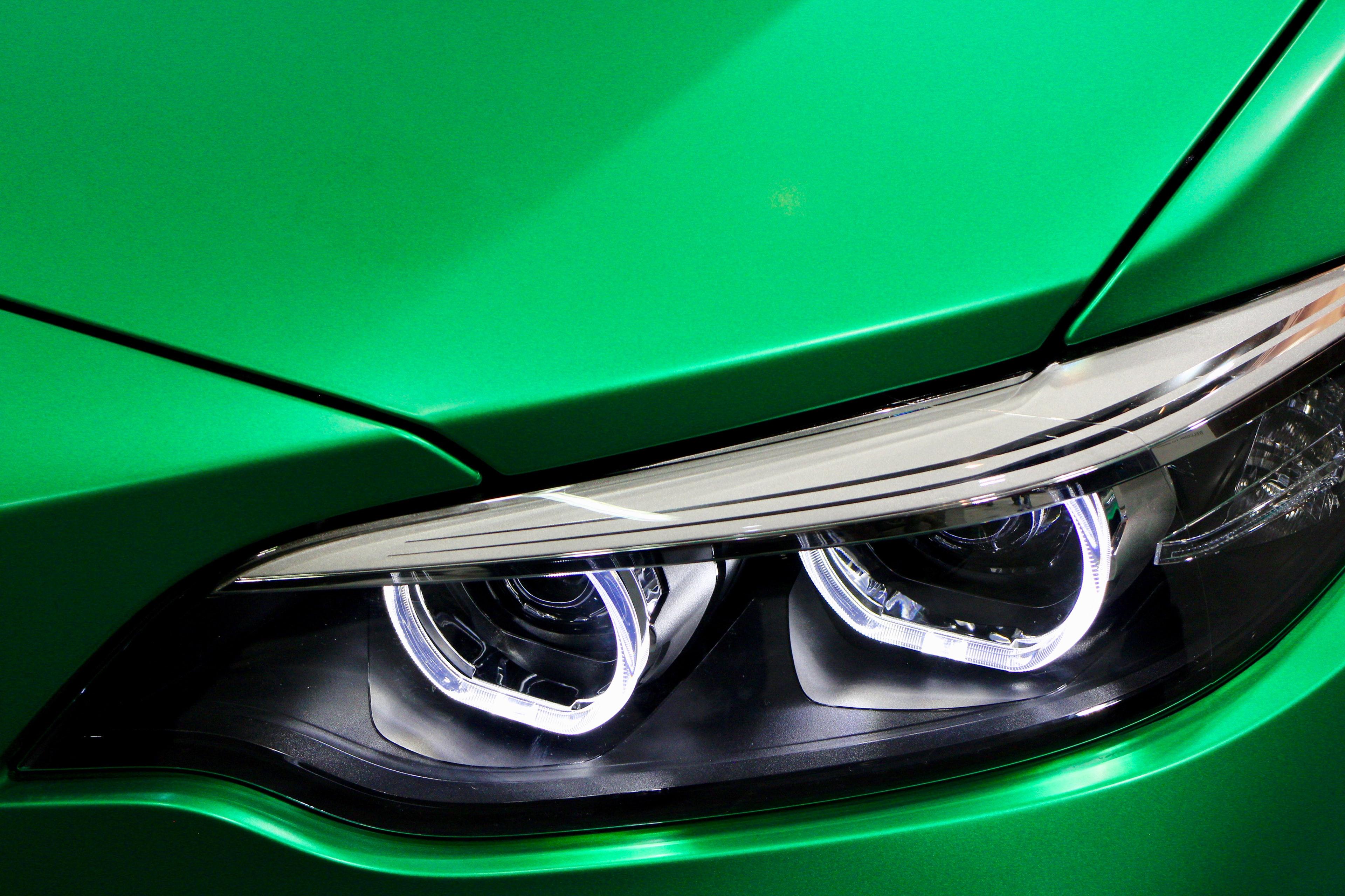 green car bonnet