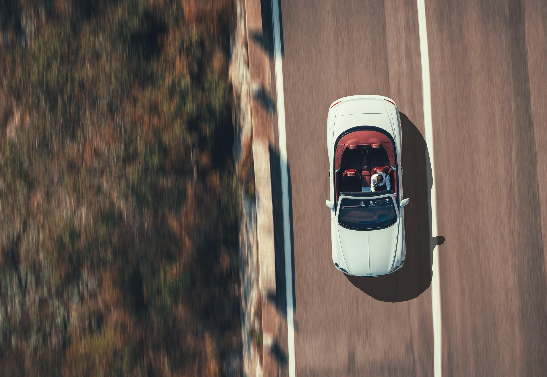birds eye view of a  Bentley Continental GT Convertible