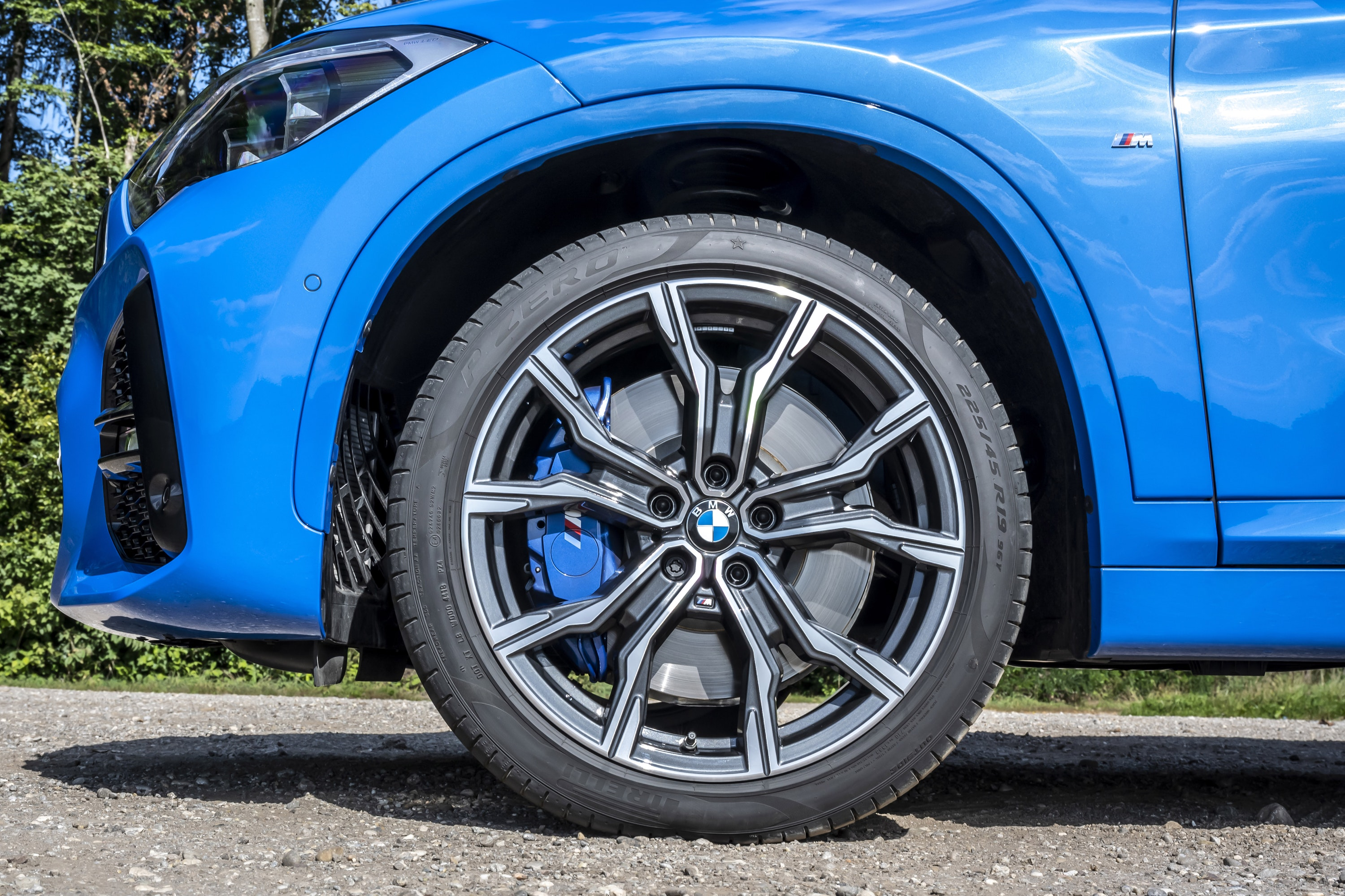 Close up of BMW X1 17 inch alloy wheel