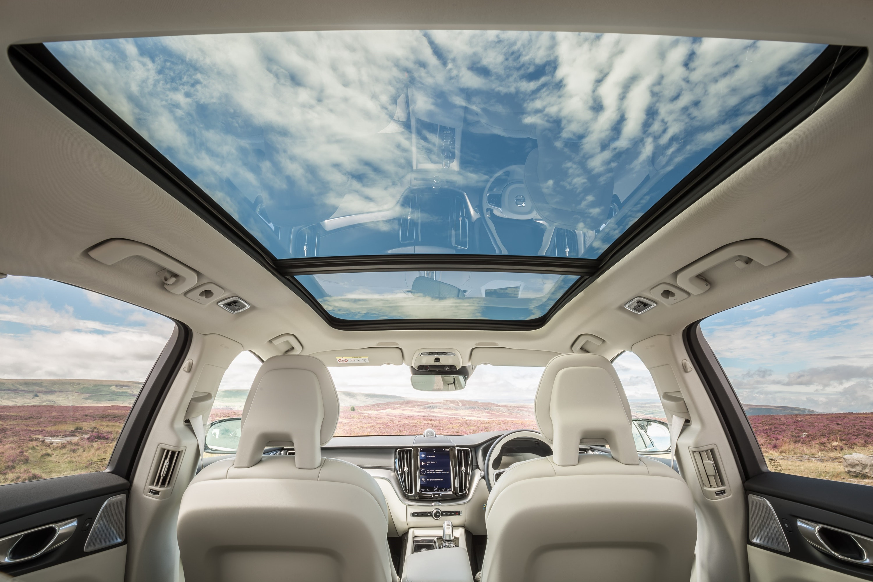 inside of a Volvo XC60
