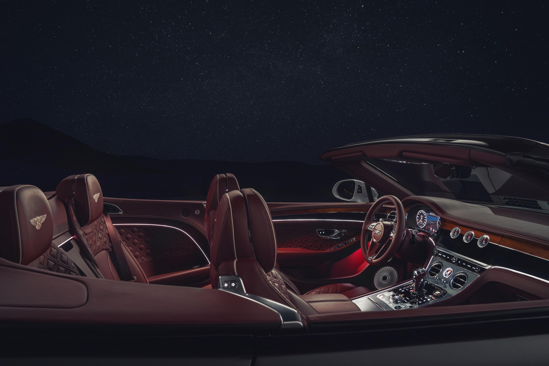 interior of  Bentley Continental GT Convertible