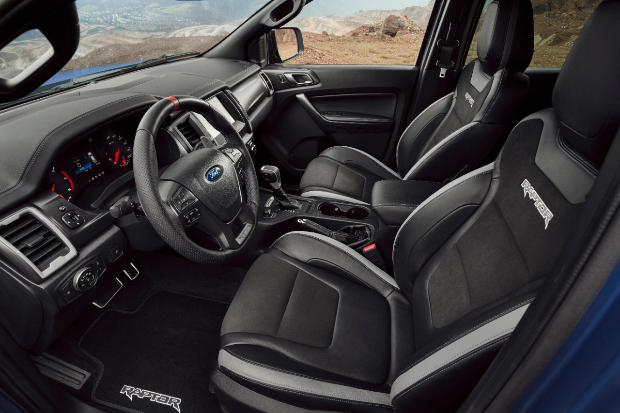 interior of Ford Range Raptor