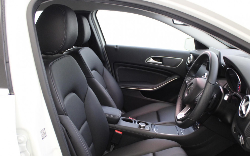 Mercedes A-Class Sport front interior with leather seats
