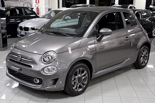 Metallic grey Fiat 500