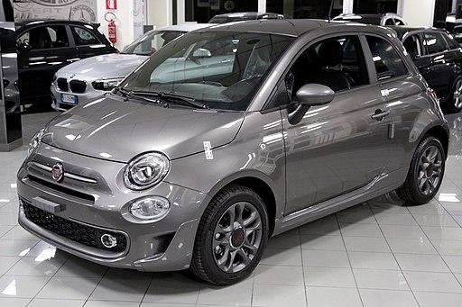 Metallic grey Fiat 500