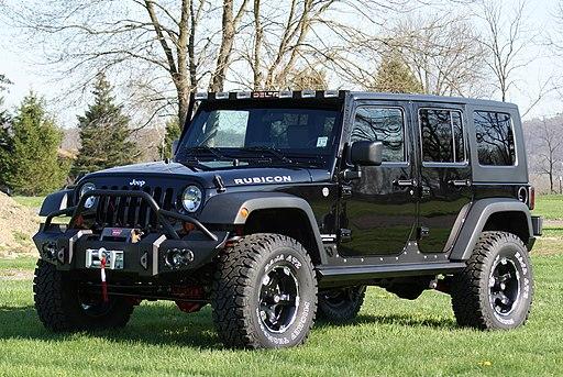 Black Jeep Wrangler Rubicon
