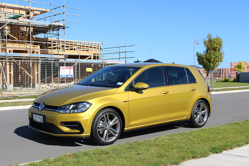Gold Volkswagen Golf