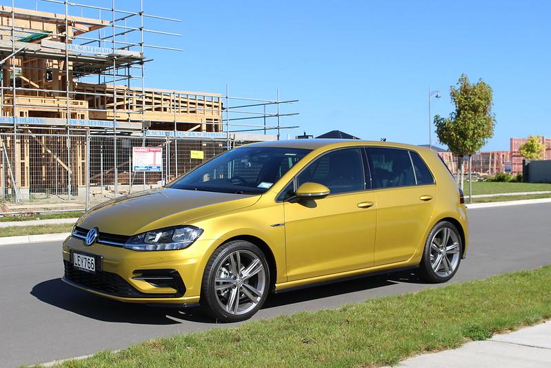 Gold Volkswagen Golf