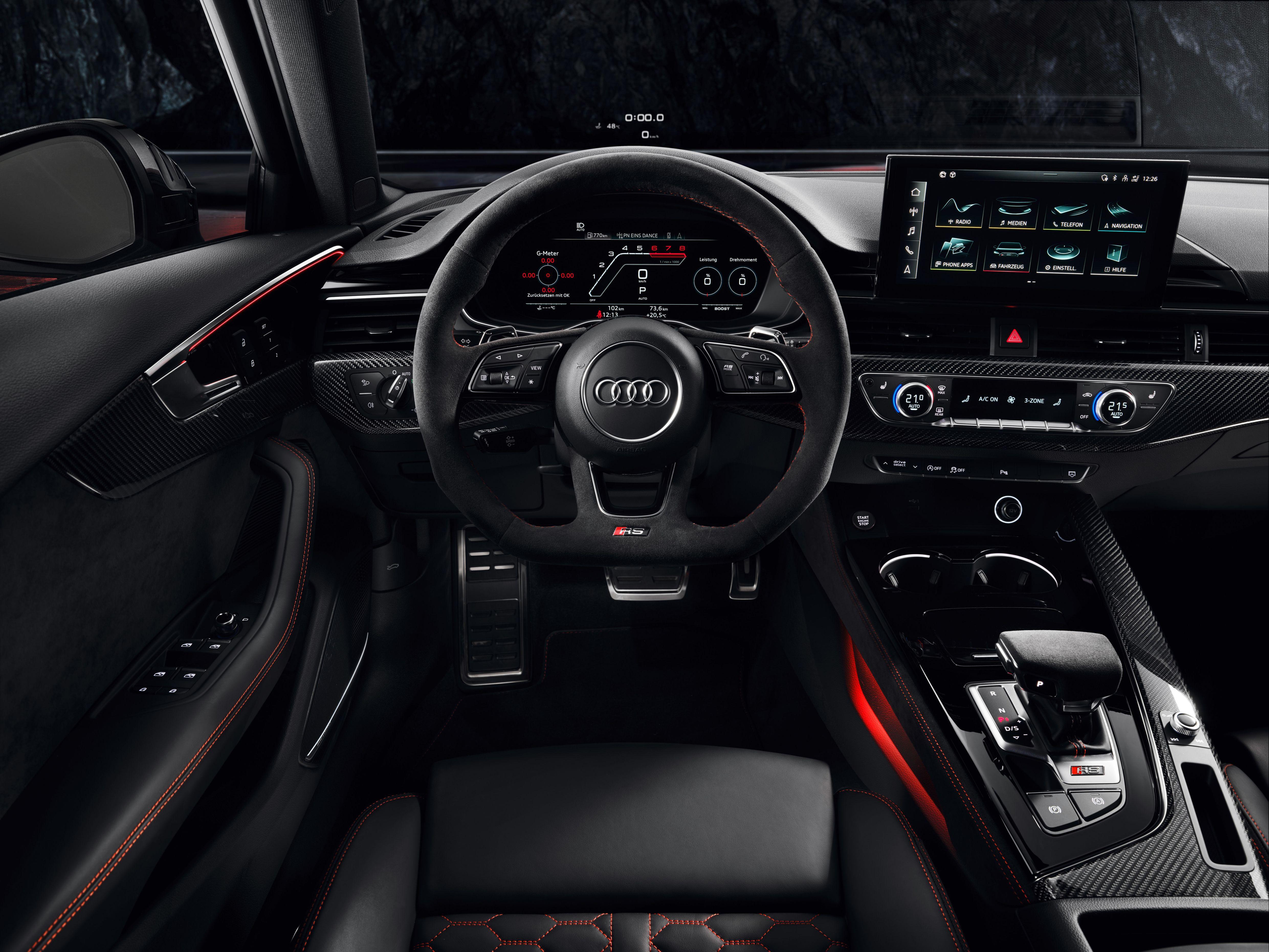 Interior of an Audi RS4 Avant