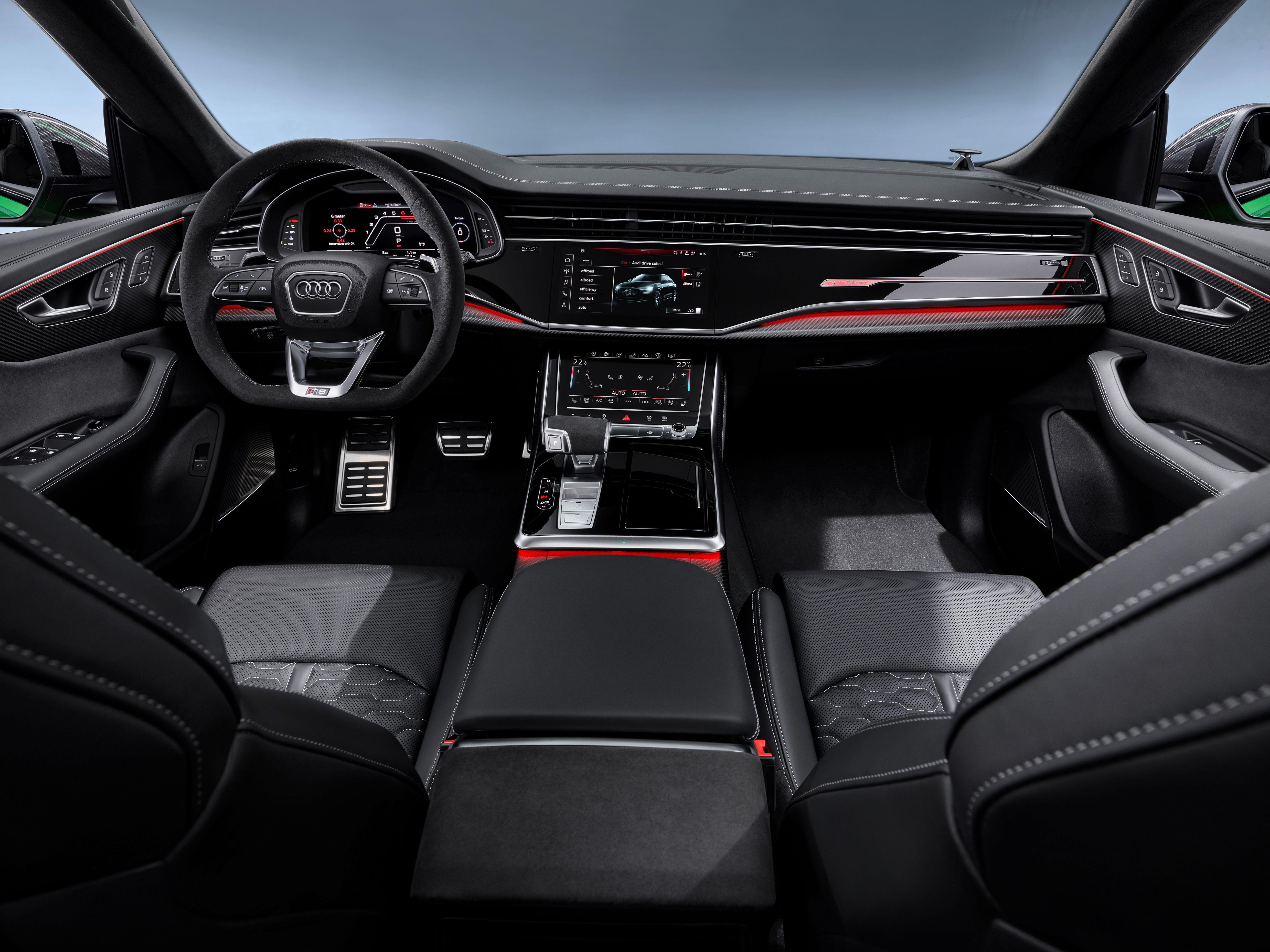 Interior of the Audi RSQ8 SUV