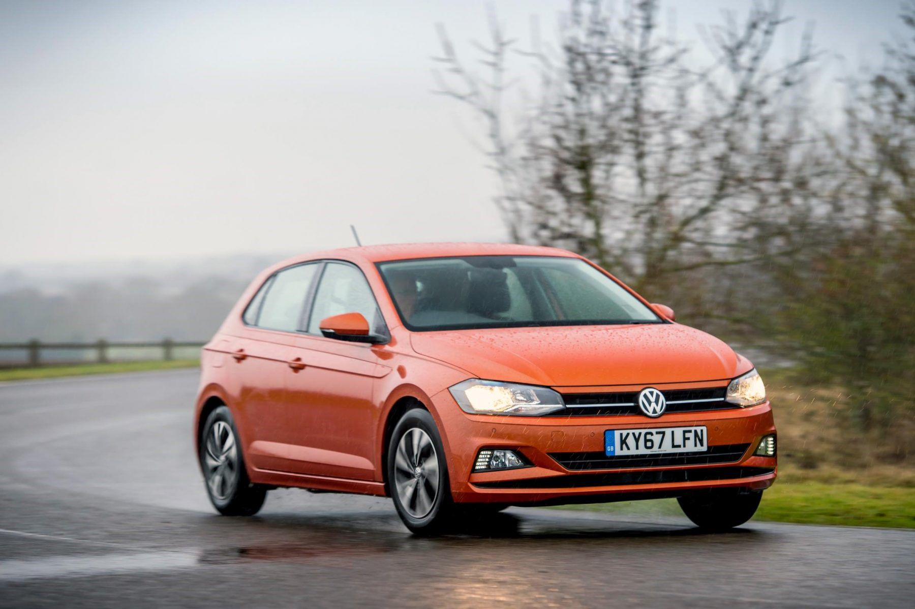 Orange VW polo