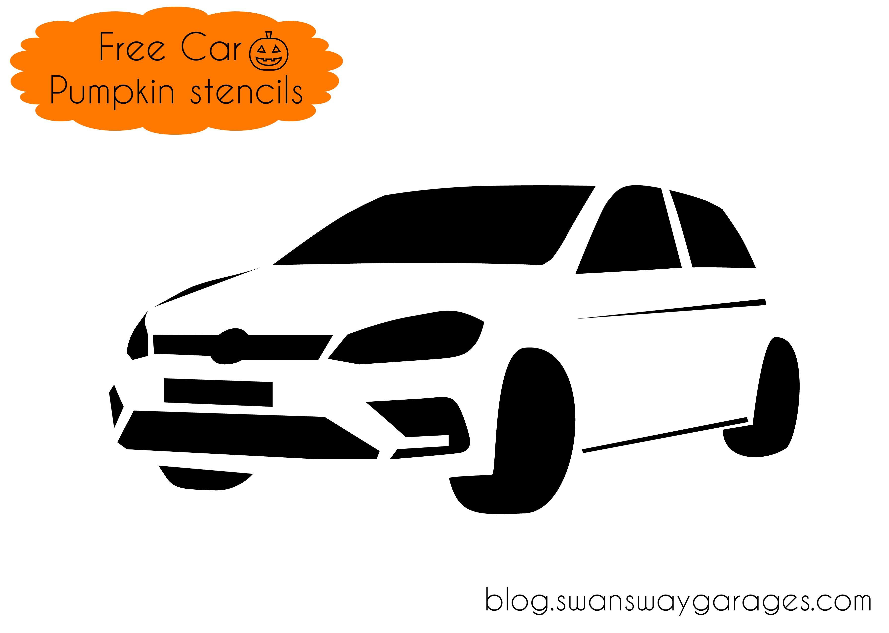 Free Volkswagen Golf pumpkin stencil