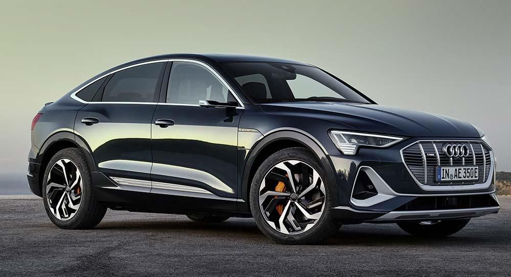 Full view of the New Audi E-tron black edition