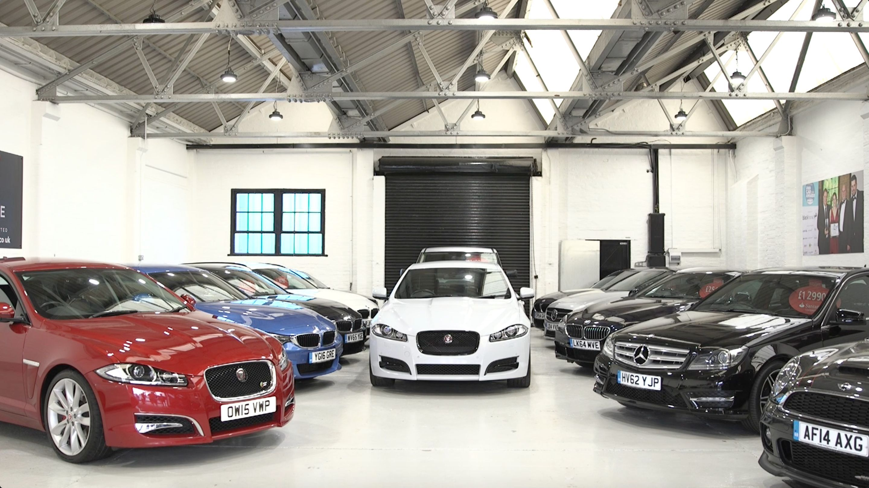 cars in a workshop