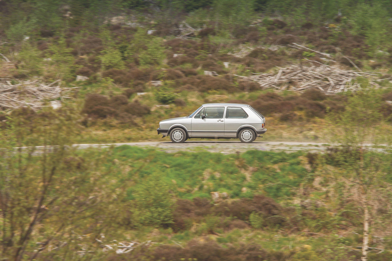 VW Golf MK1 GTI Driving by trees