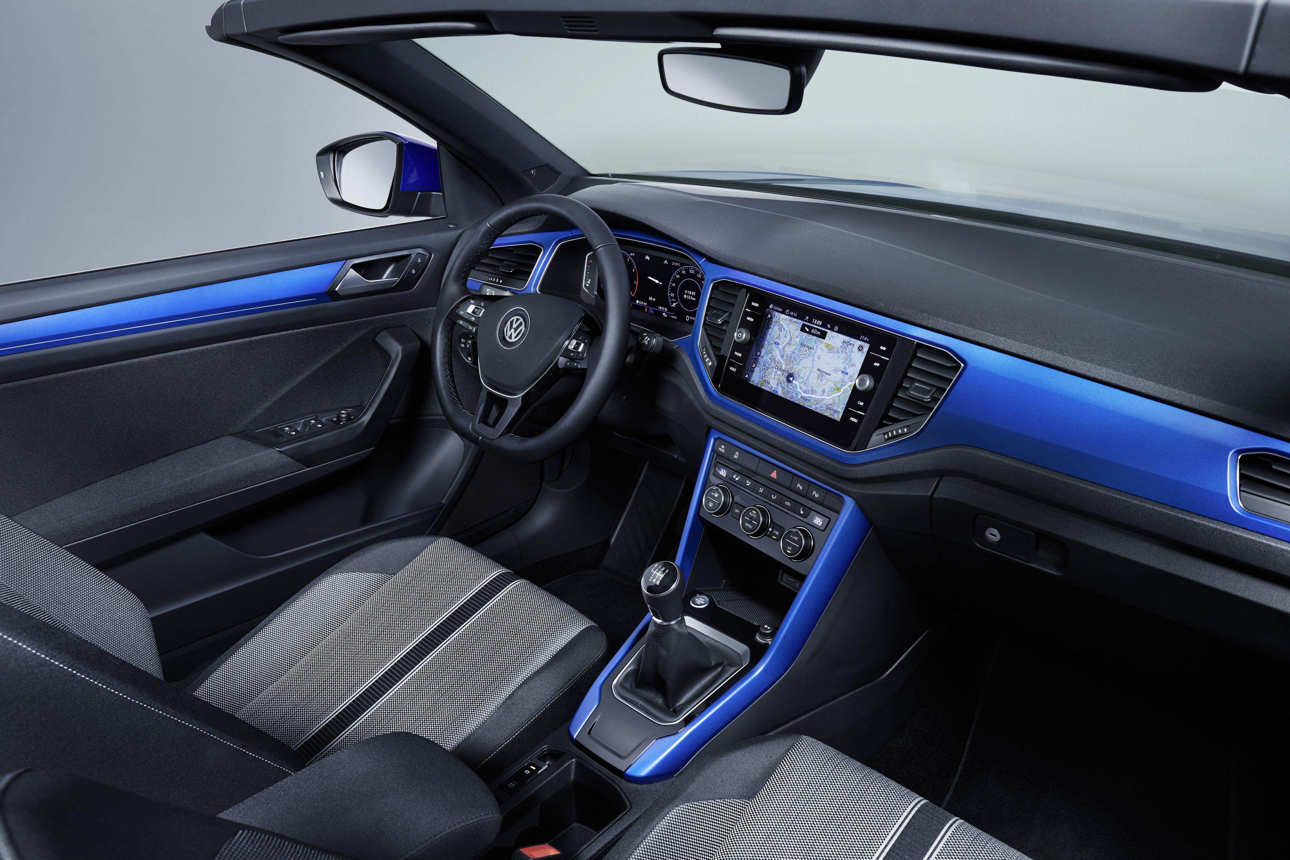 Interior of the T-Roc Cabriolet