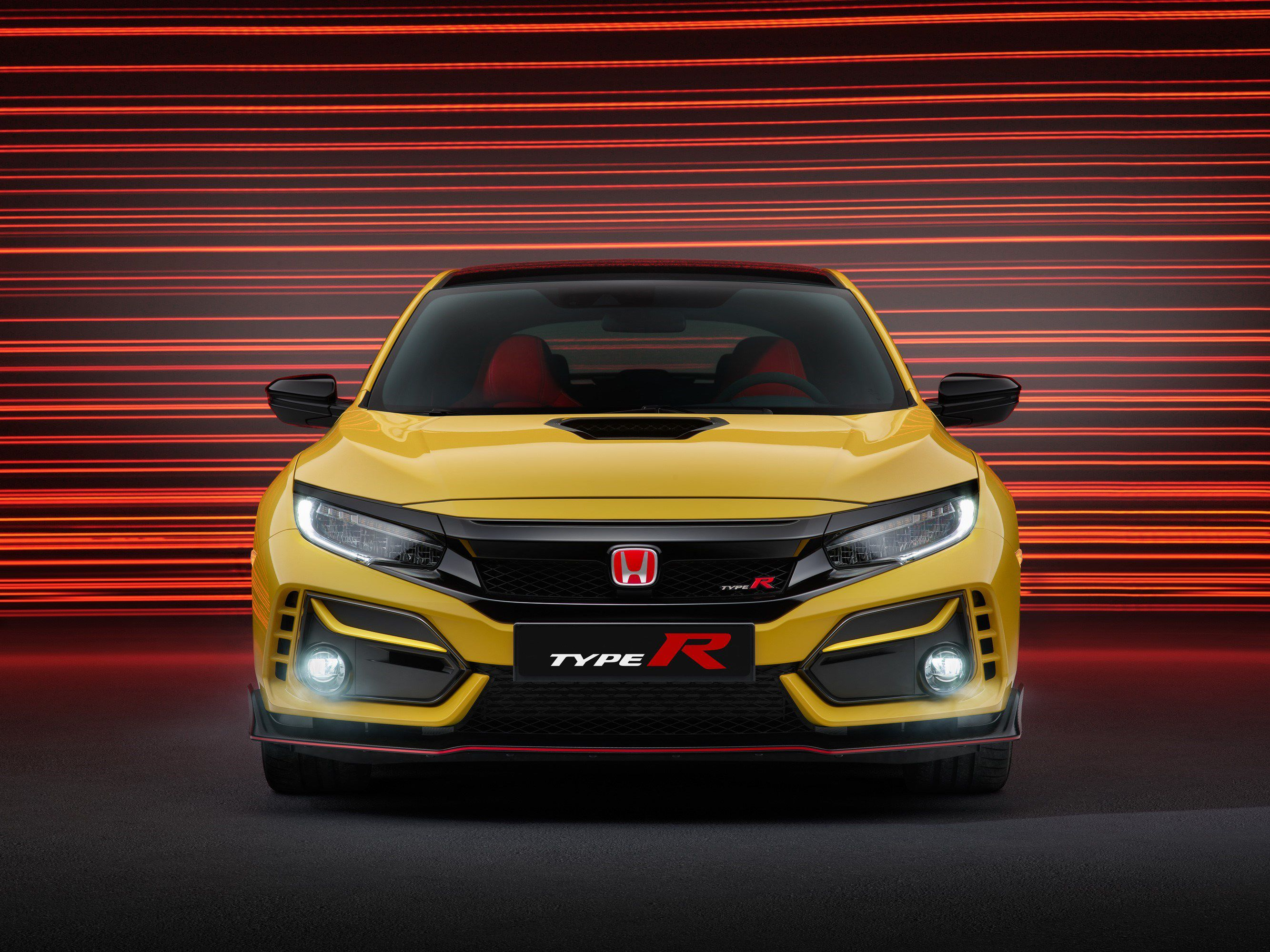 Front view of the Civic Type R