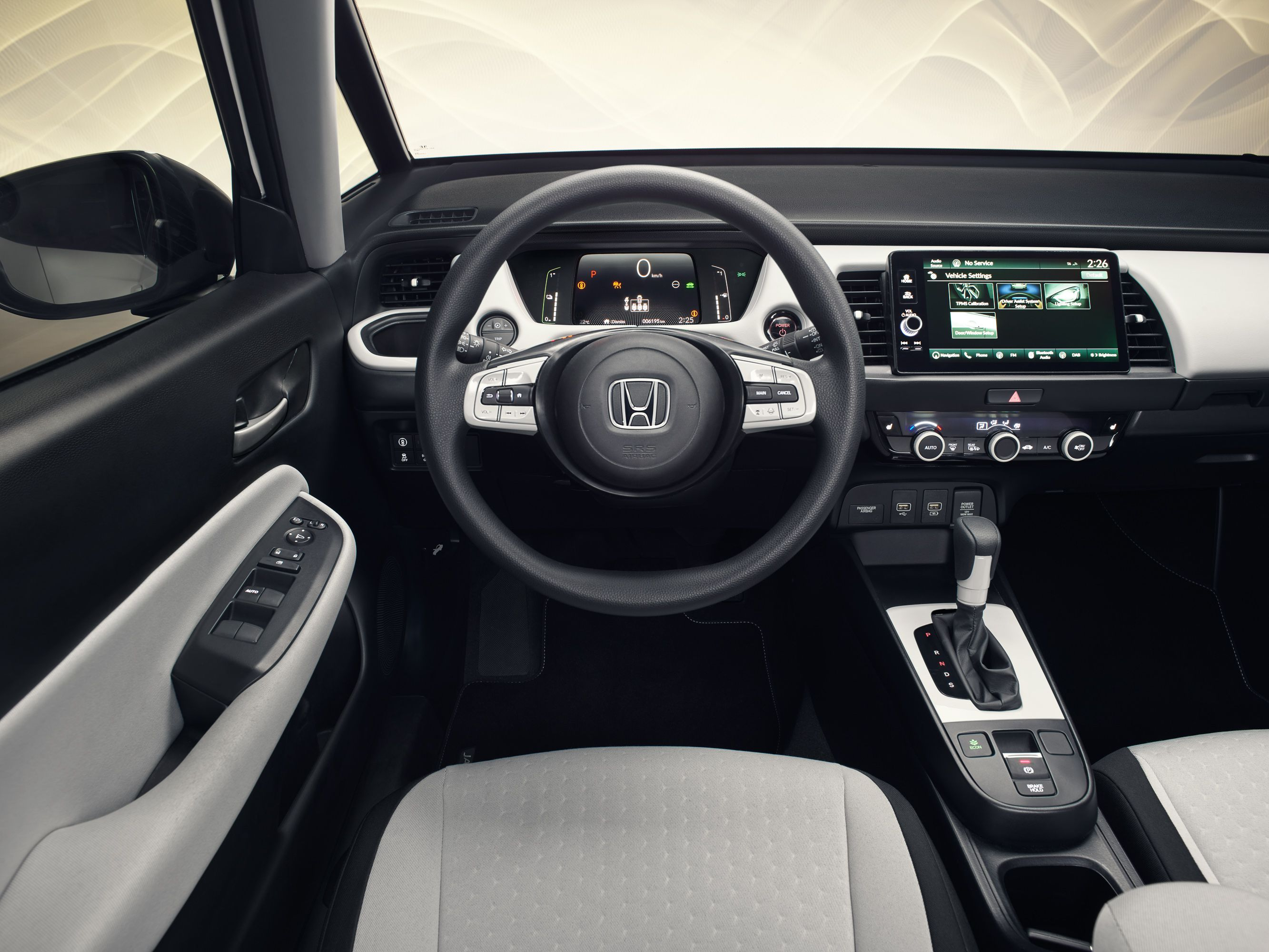 interior of new Electric Honda Jazz