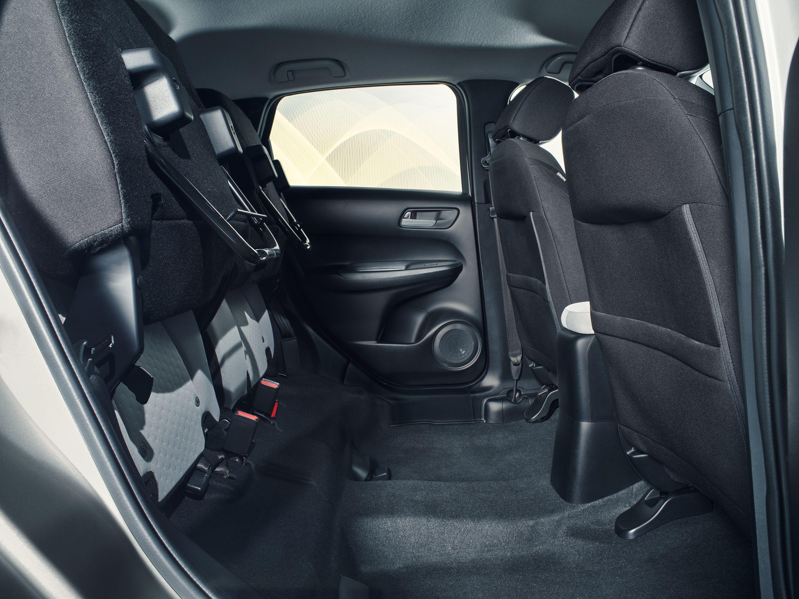 Rear seats of Honda Jazz