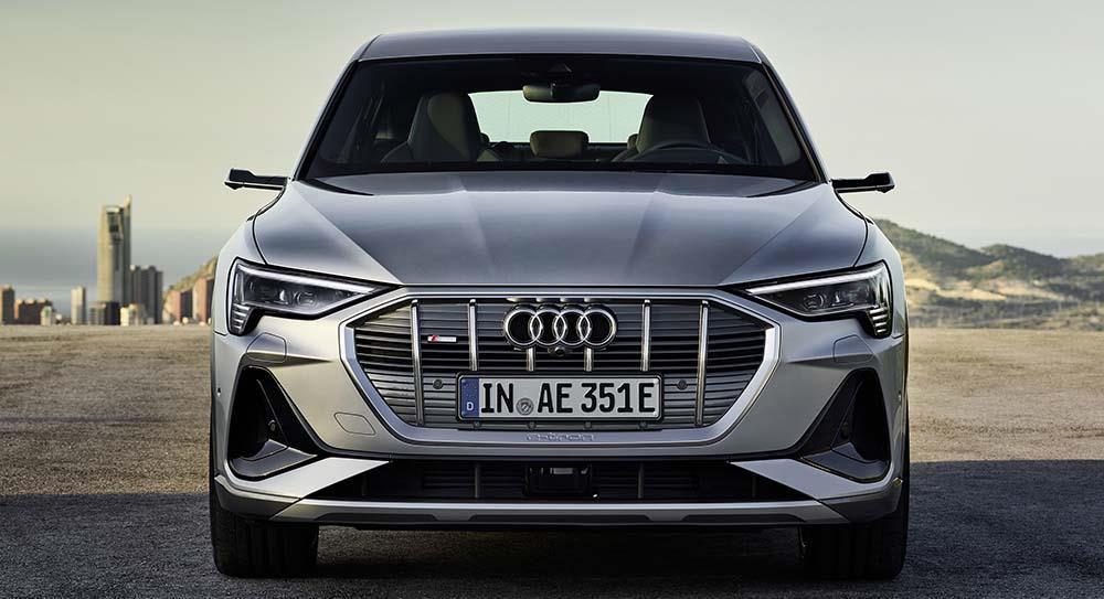 Front view of Audi E-Tron Sportback