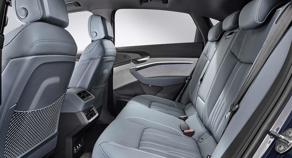 Back seats of Audi E-tron Sportback