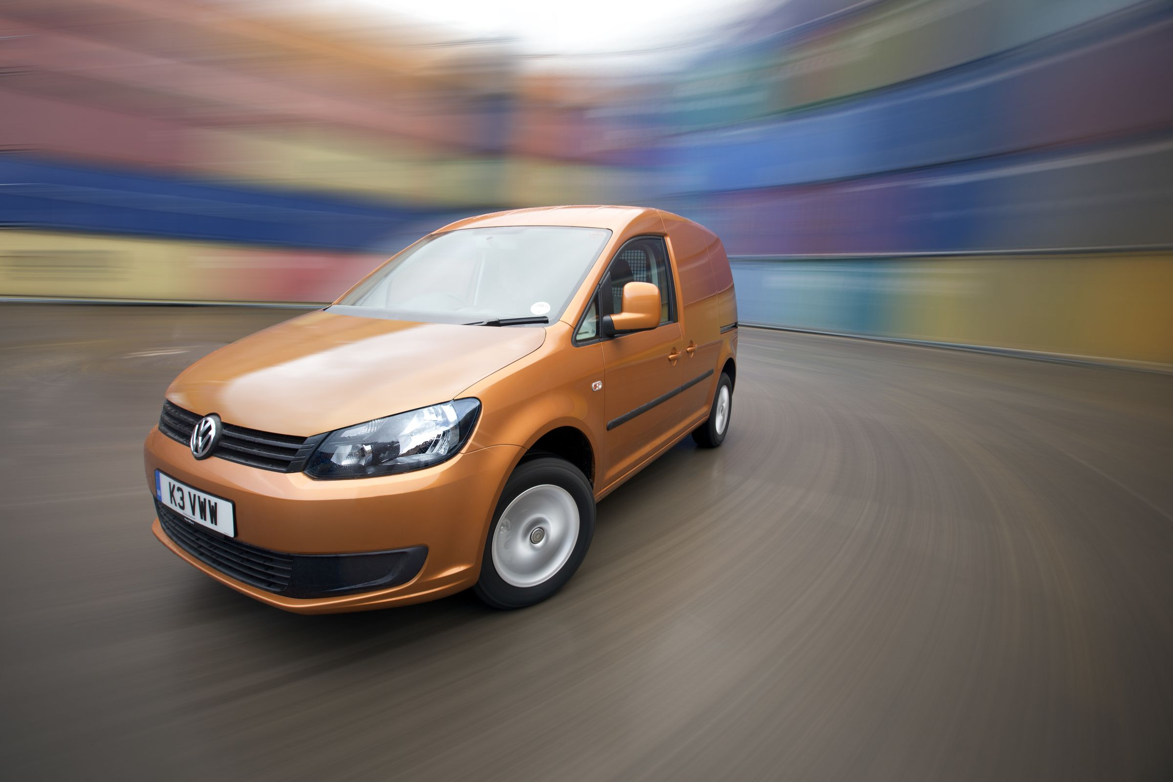 Orange Volkswagen Caddy