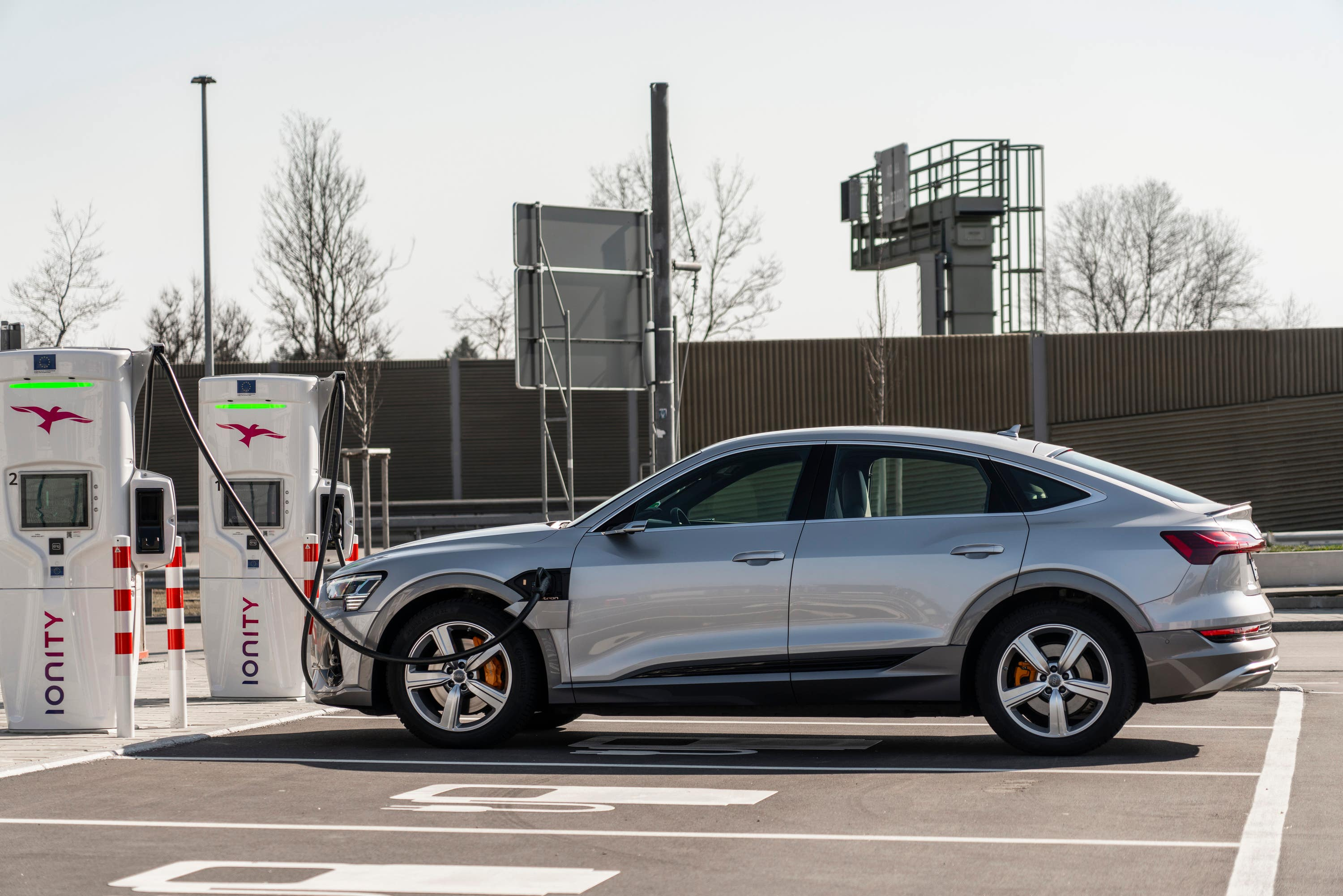 electric car on charge