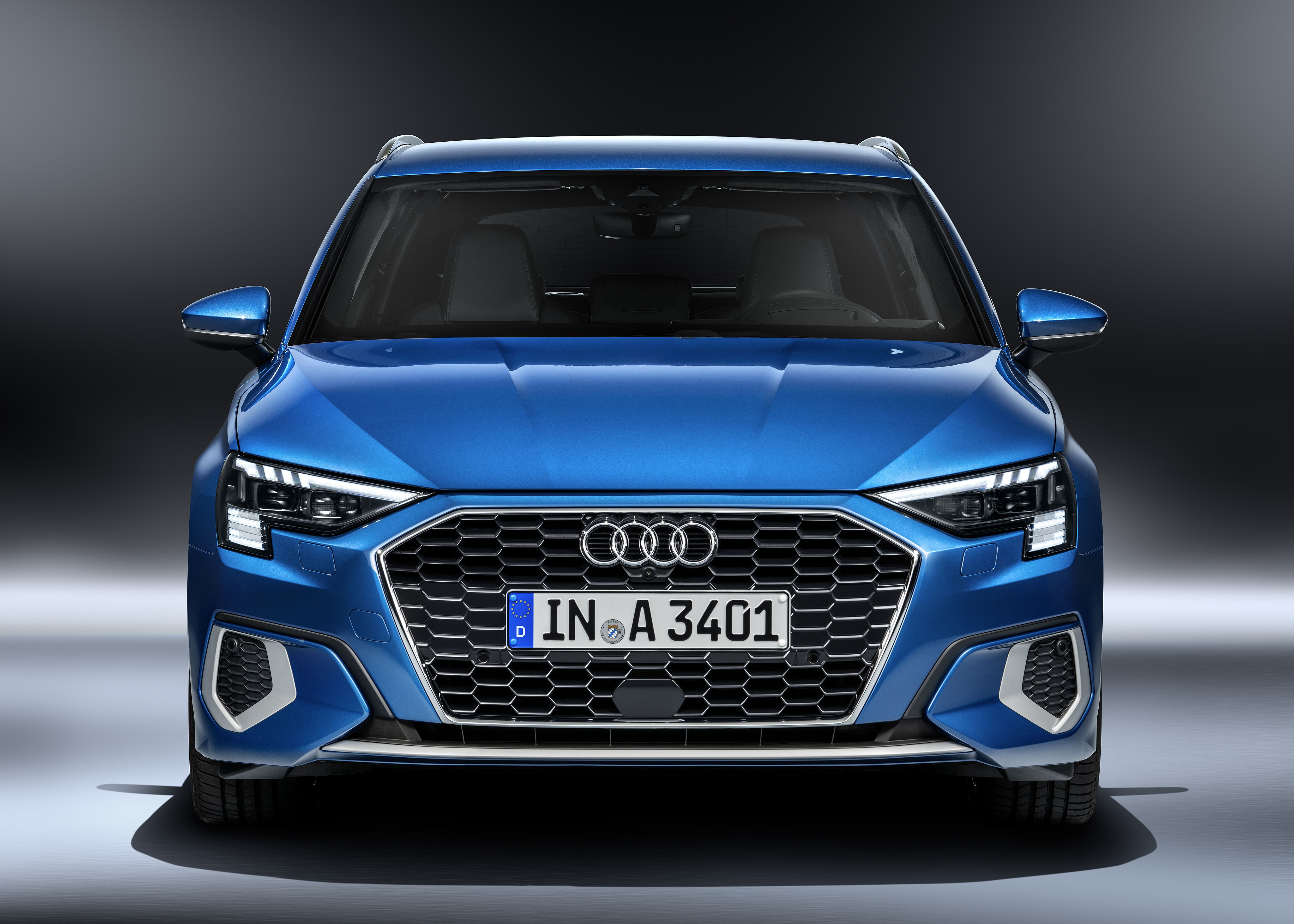 Front view of Audi A3 Sportback