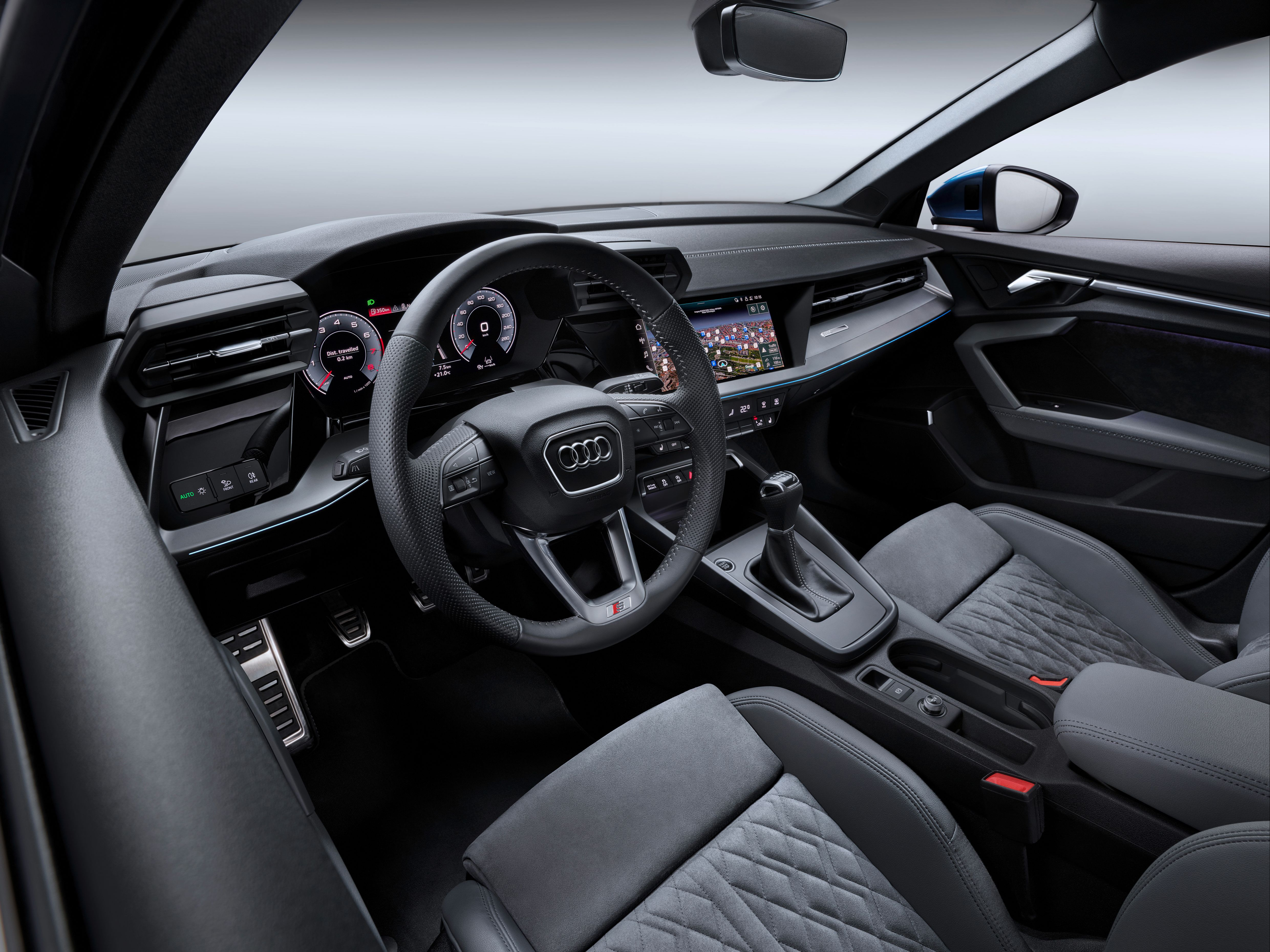 Interior of Audi A3 Sportback