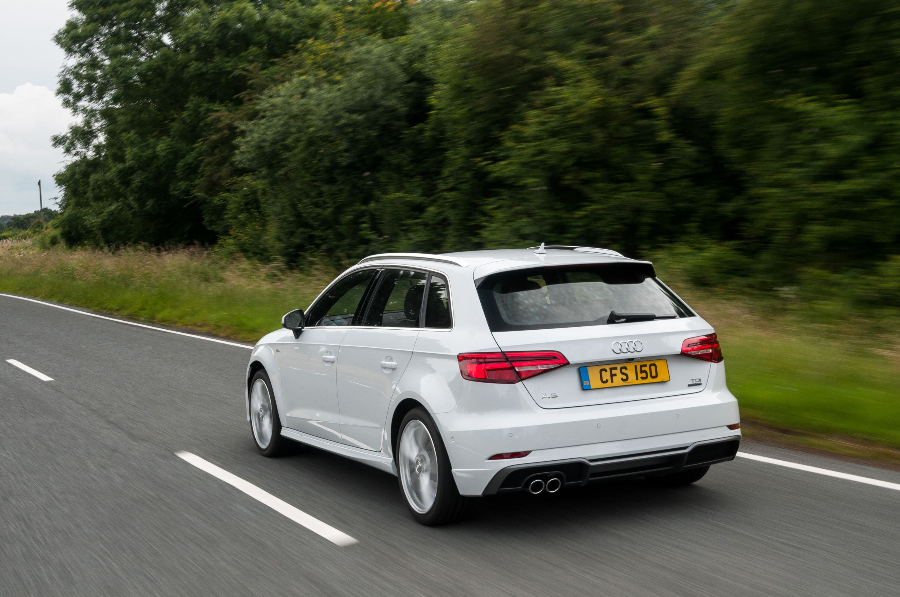 Rear view of the Audi A3 Sportback