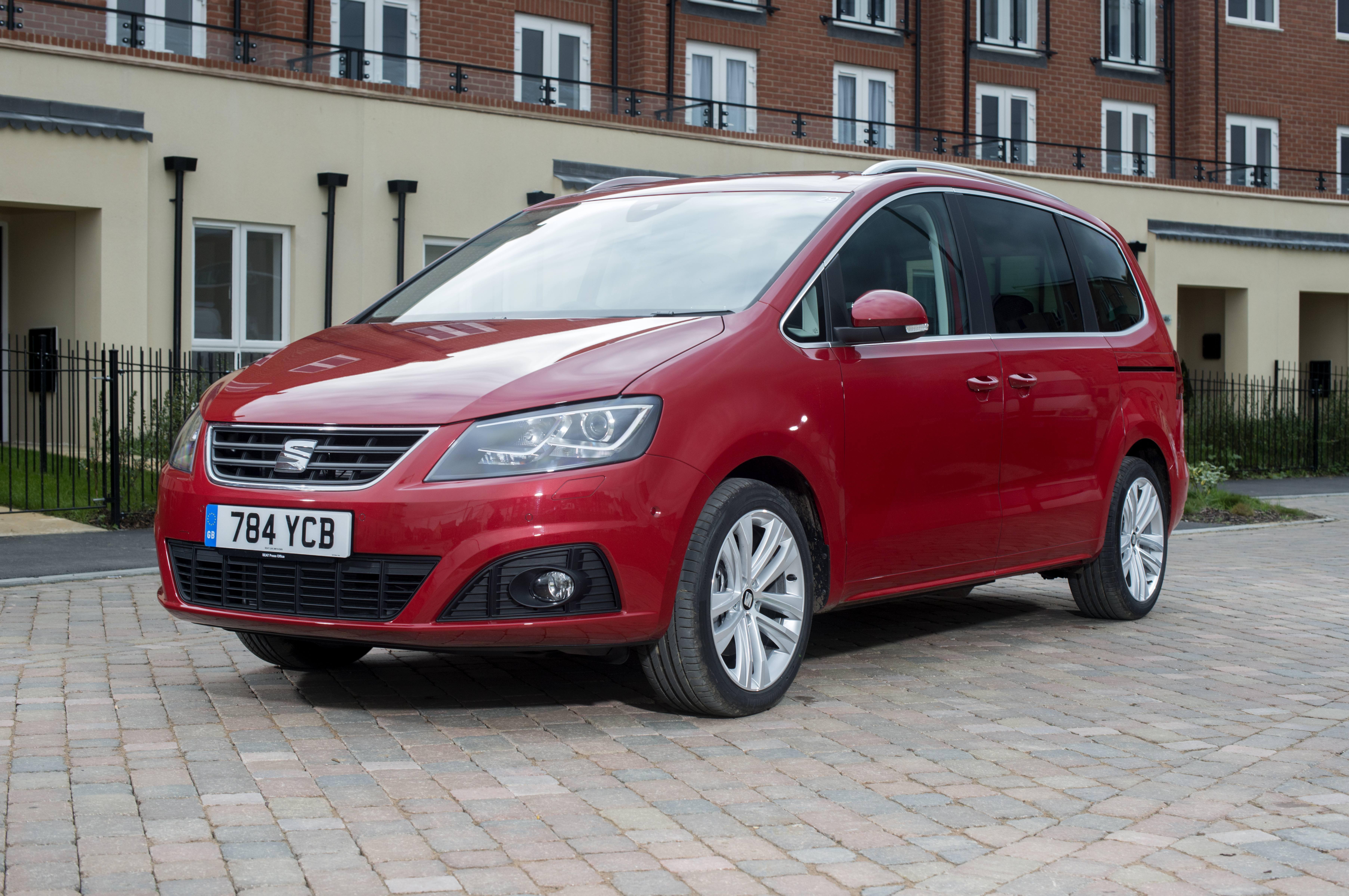 Parked red SEAT Alhambra