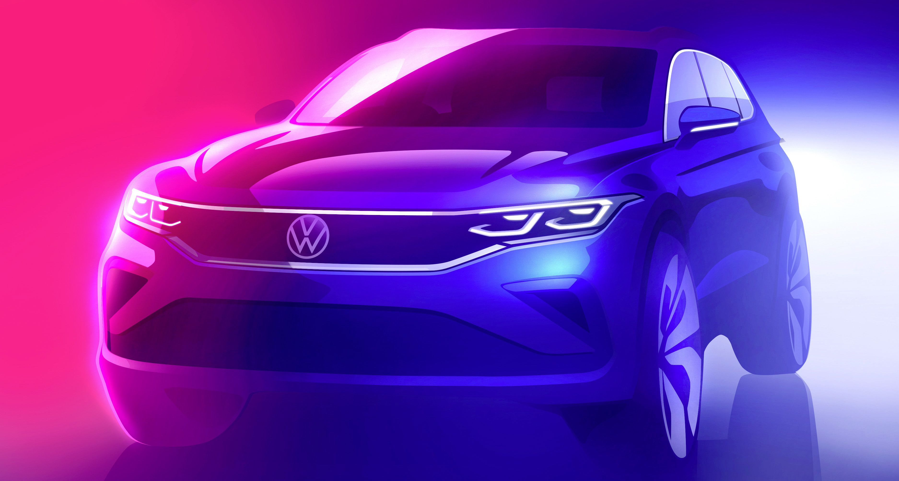 Design sketch - preview of the new Tiguan