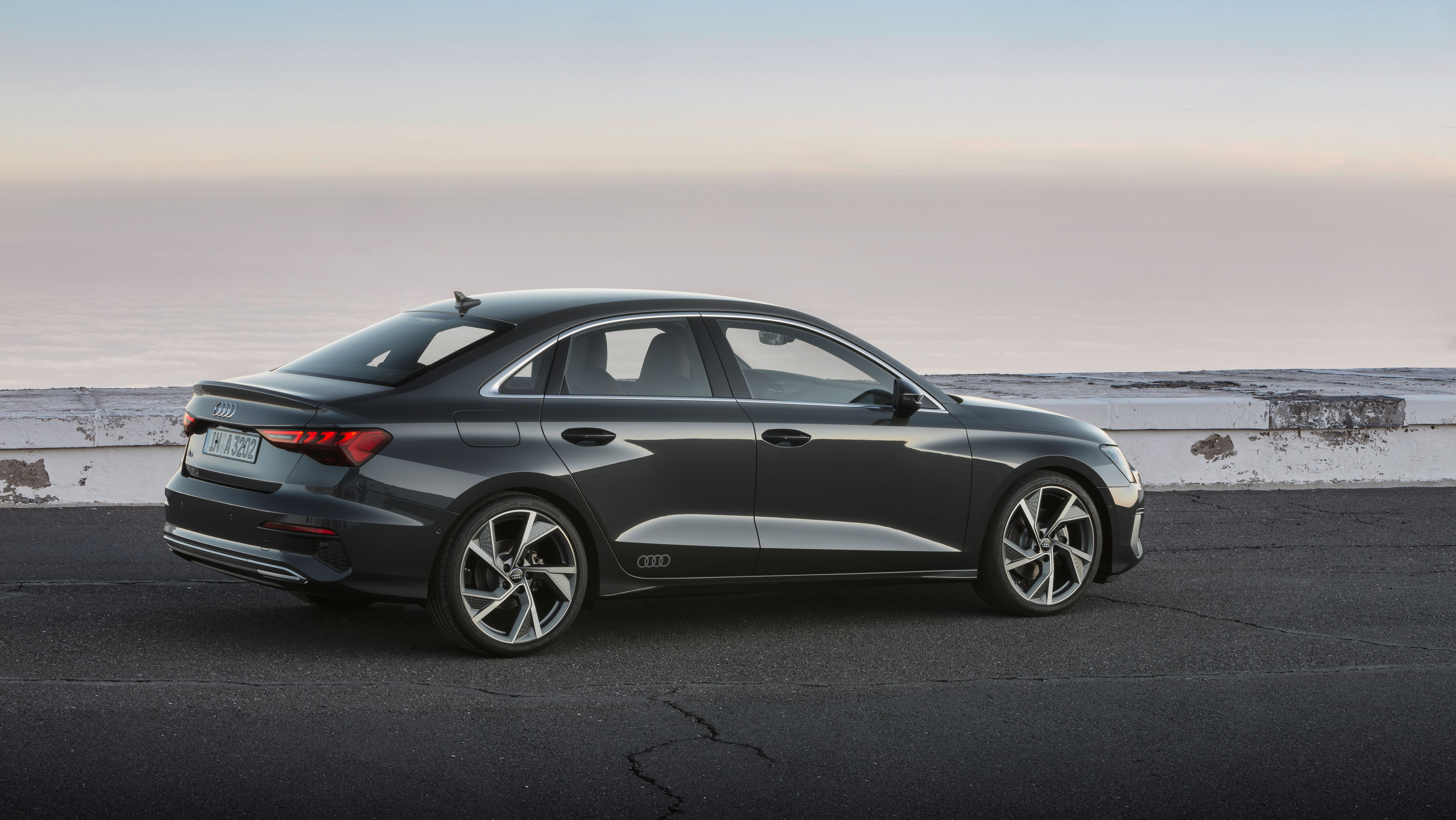 All new Audi A3 Saloon from side