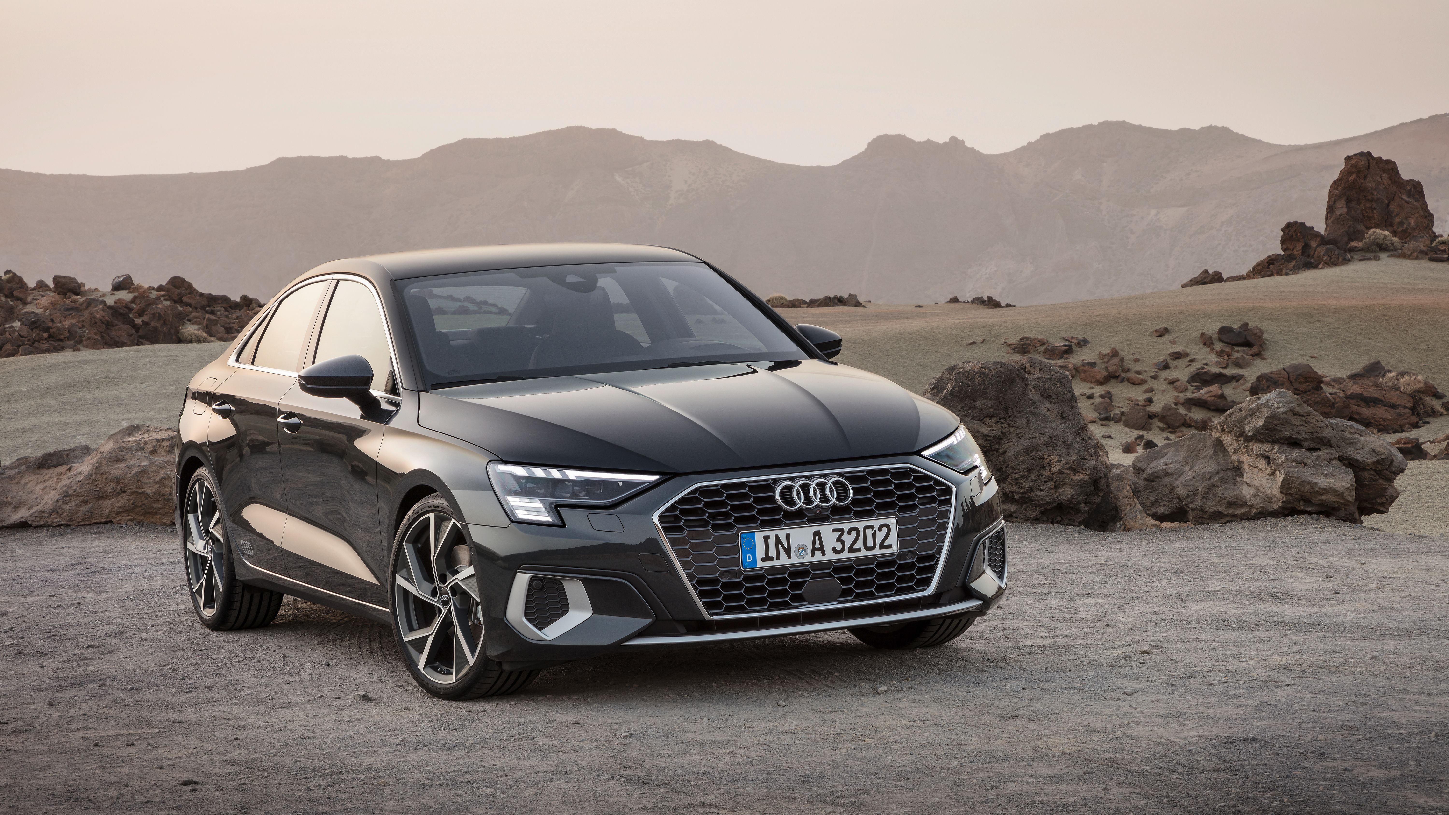 ALl new Audi A3 Saloon from front