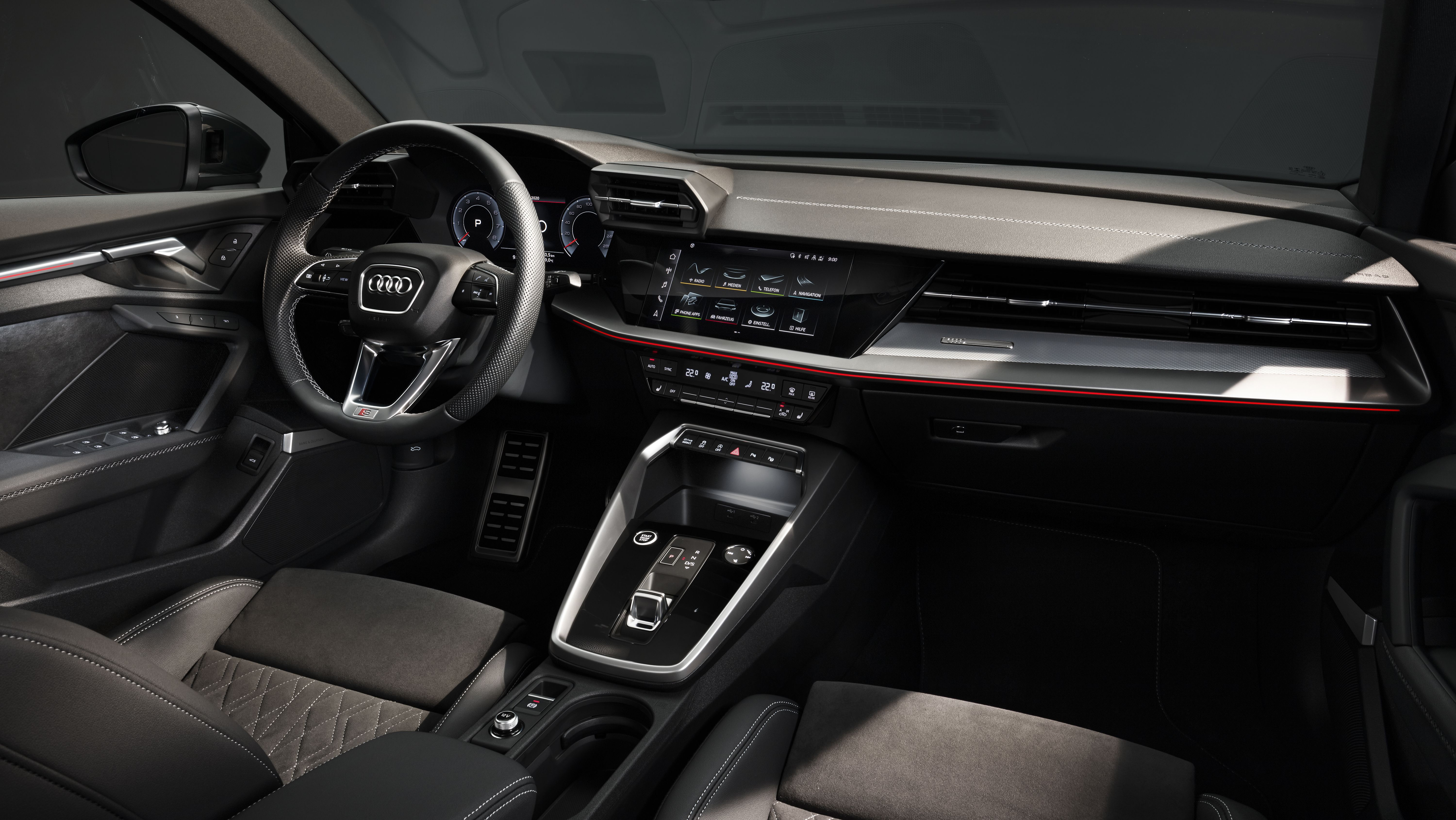 Interior of all new Audi A3 Saloon