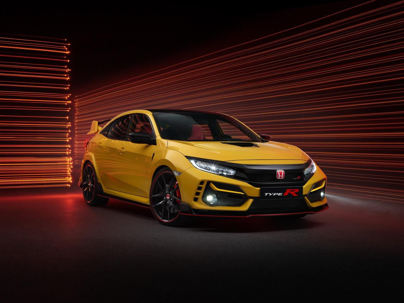 Honda Civic type R Limited Edition in yellow