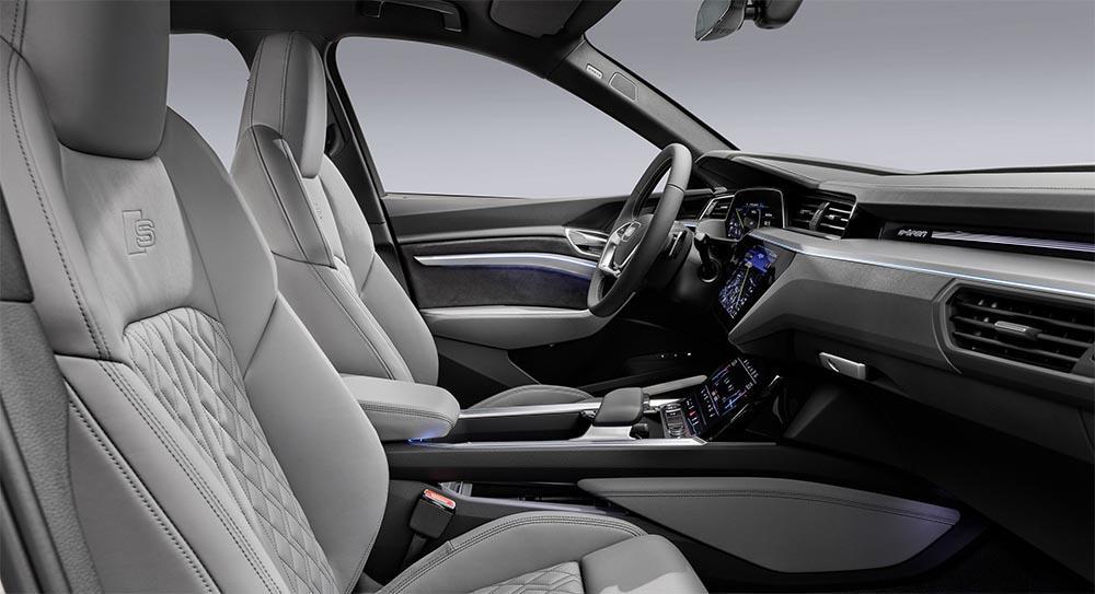 Interior of Audi e-tron Sportback