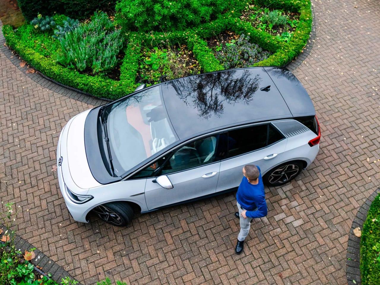 Birds eye view of the Volkswagen ID.3