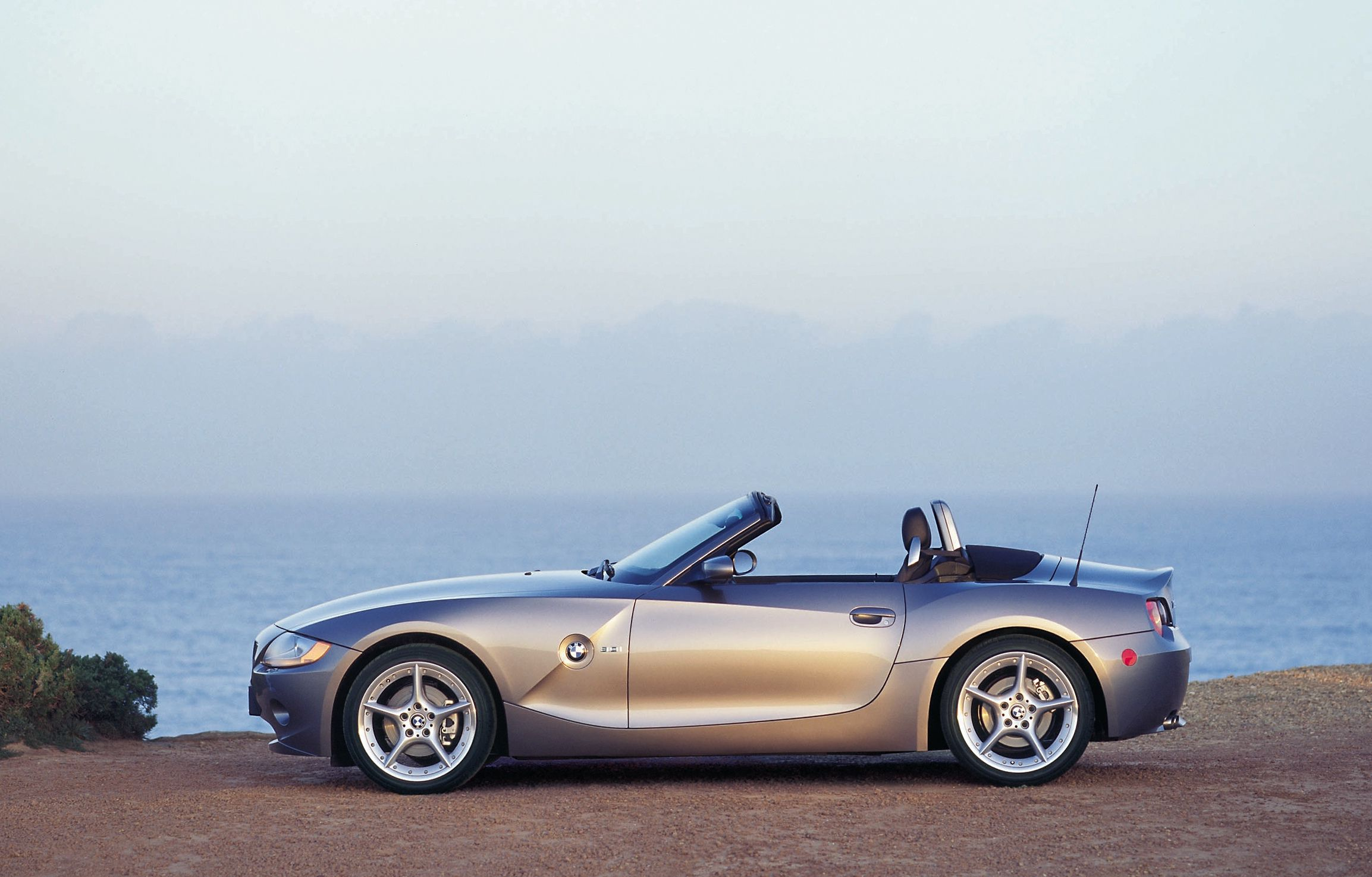 BMW Z4 convertible parked