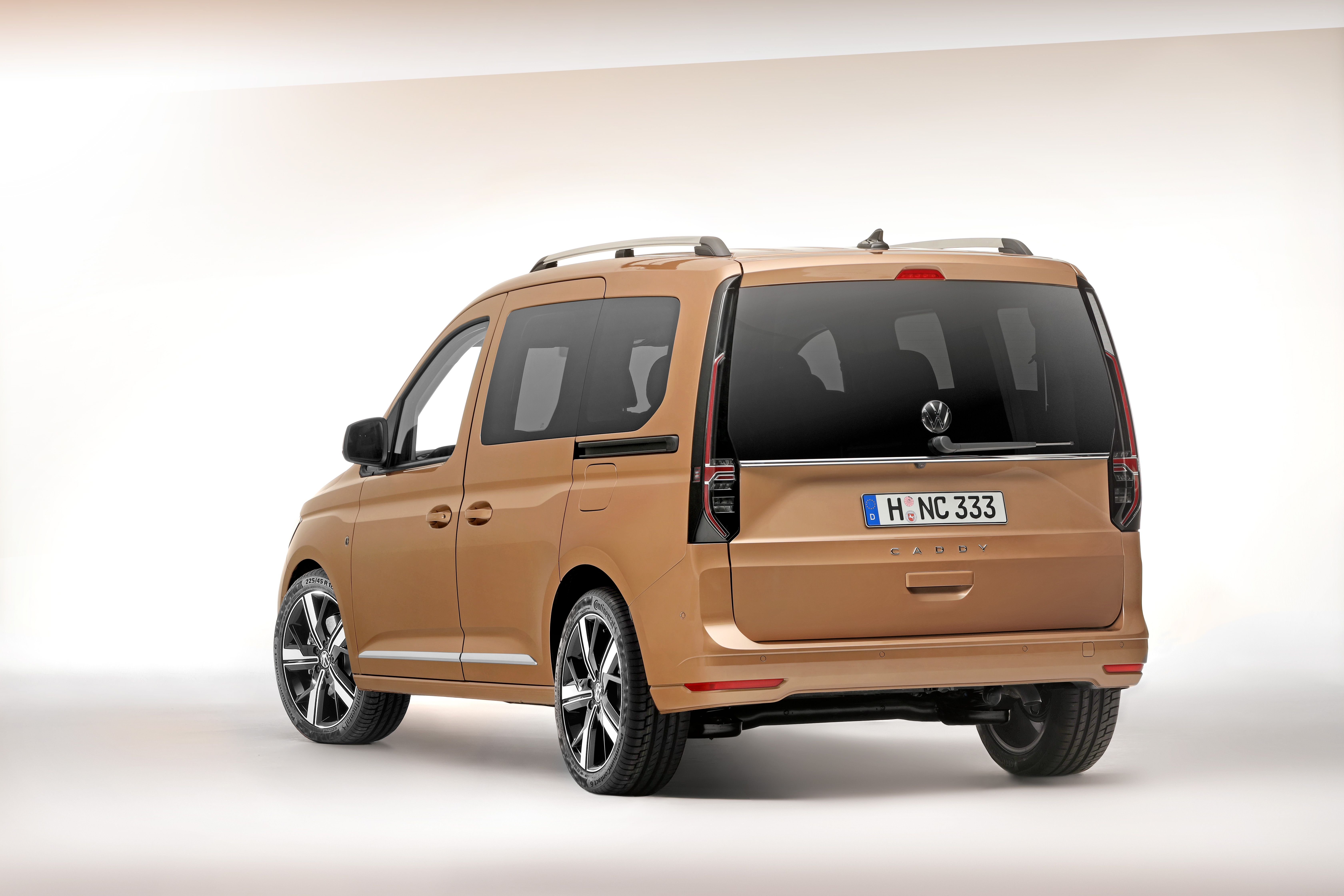 Rear view of the Volkswagen Caddy