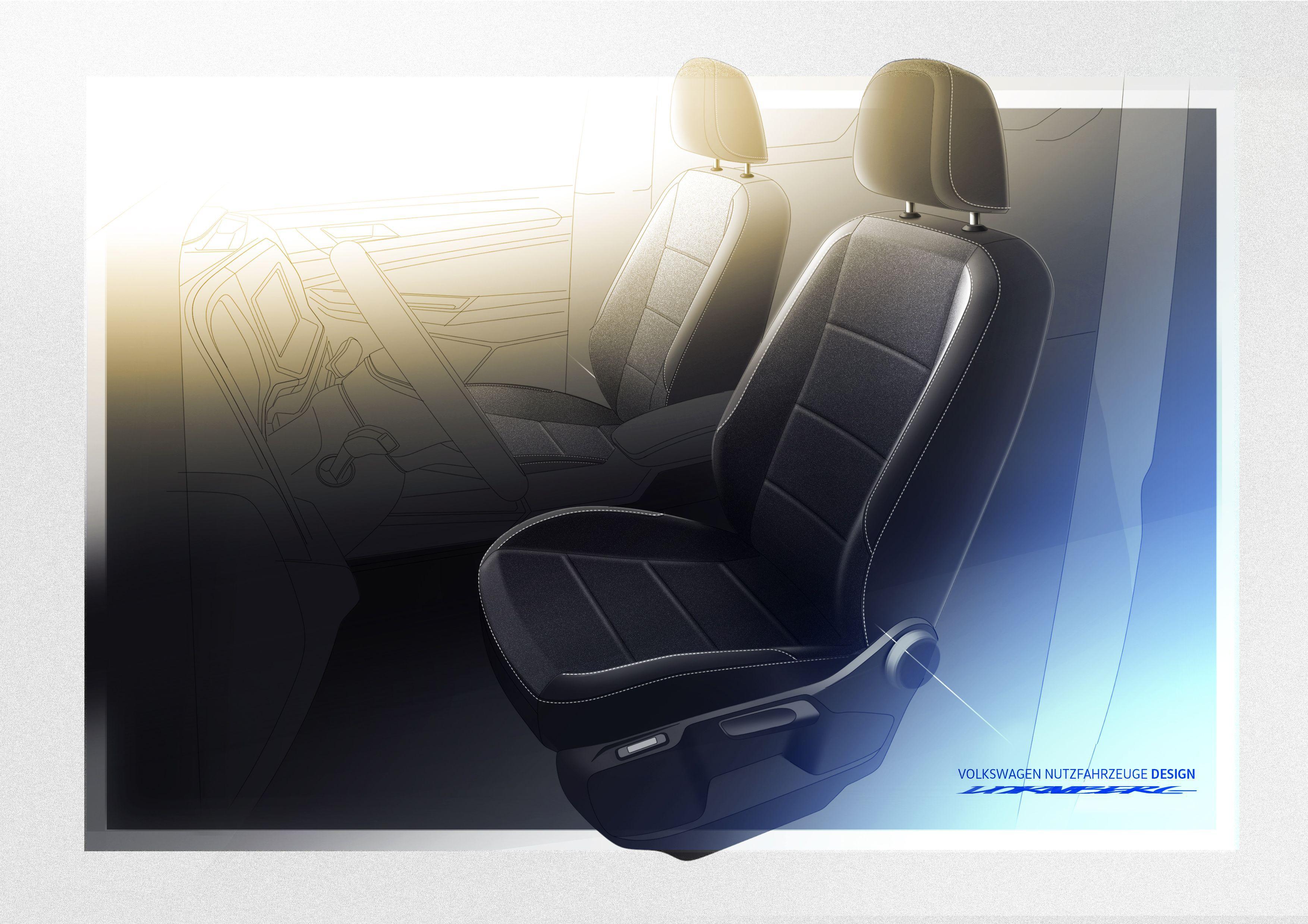 Interior of VW Caddy
