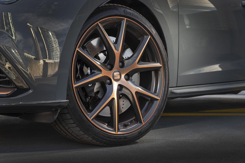Close up of SEAT Leon Cupra ST ABT Wheel