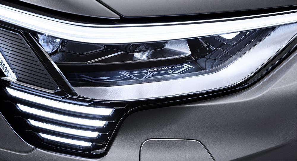 Close up of LED headlight