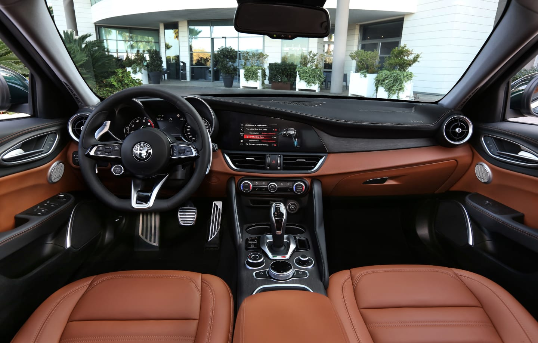 Interior of Alfa Romeo Giulia
