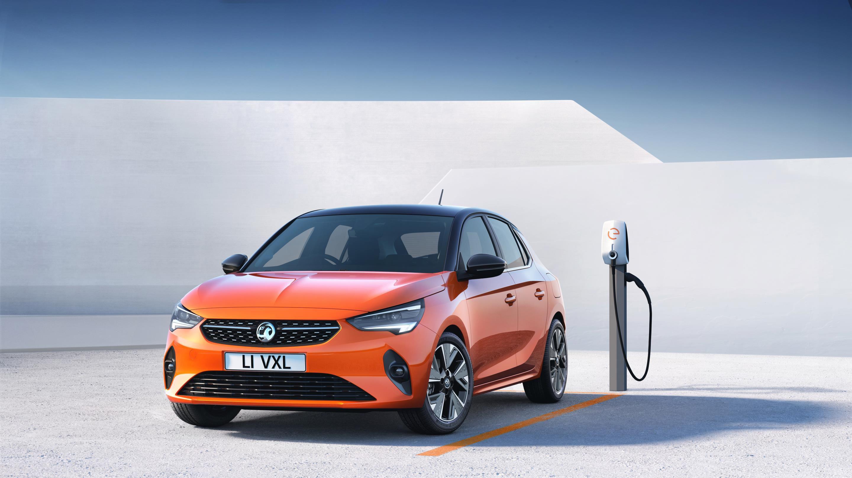 Orange Vauxhall Corsa-e