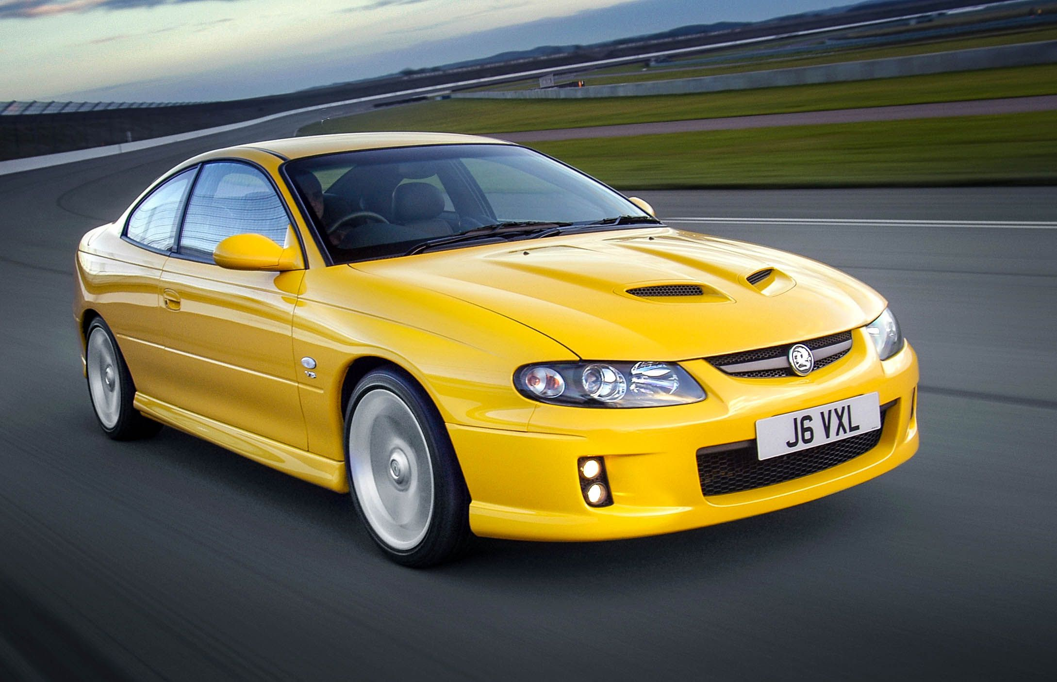 Yellow Vauxhall Monaro
